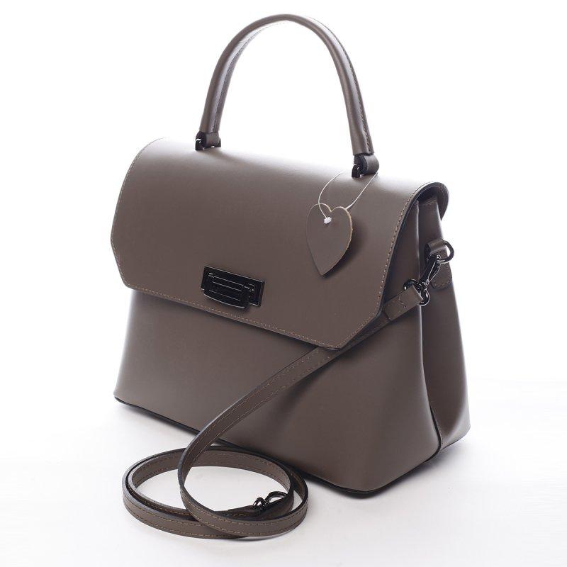 Elegantní dámská kožená kabelka Cyrille zemitá
