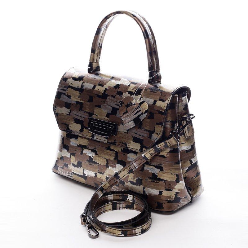 Elegantní dámská kožená kabelka Cyrille barevná