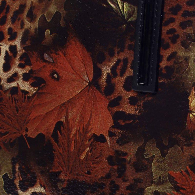 Luxusní dámská kožená taška Joseph černá/potisk list