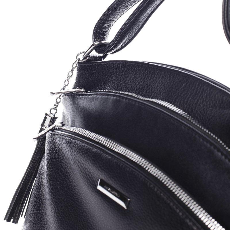Módní dámská koženková crossbody Larissa černá