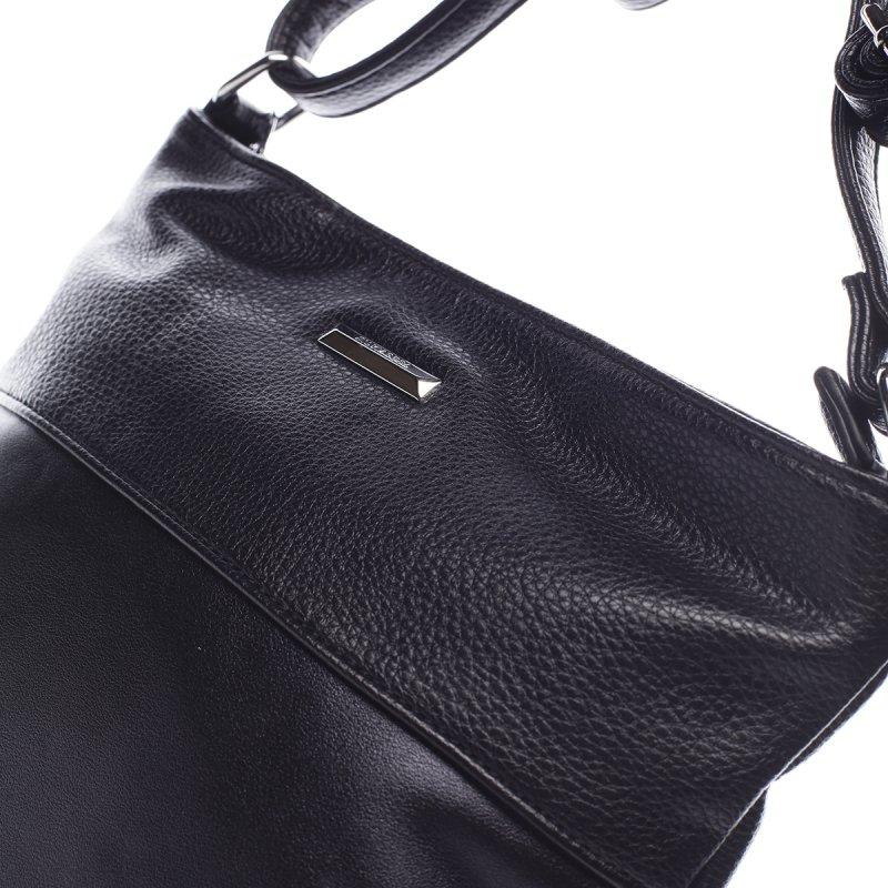 Praktická dámská koženková crossbody Gontran černá