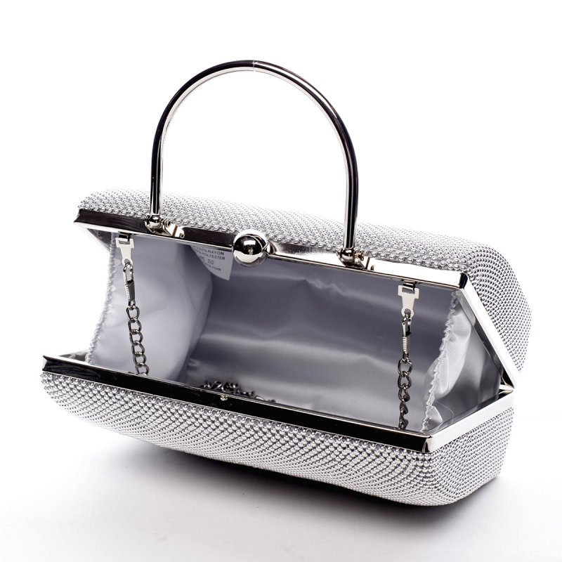 Jemná dámská společenská kabelka Amédee stříbrná