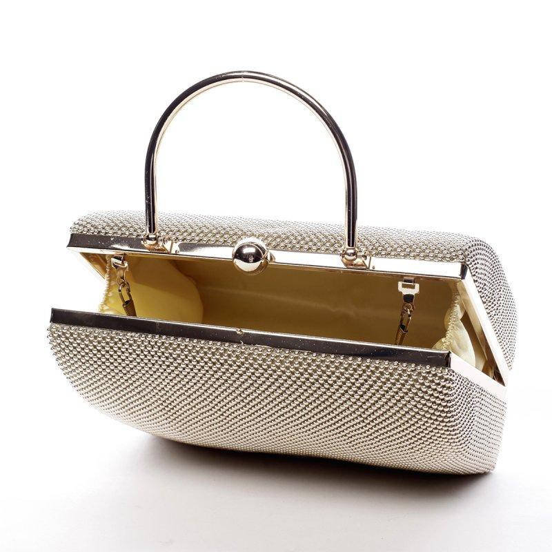 Jemná dámská společenská kabelka Amédee zlatá