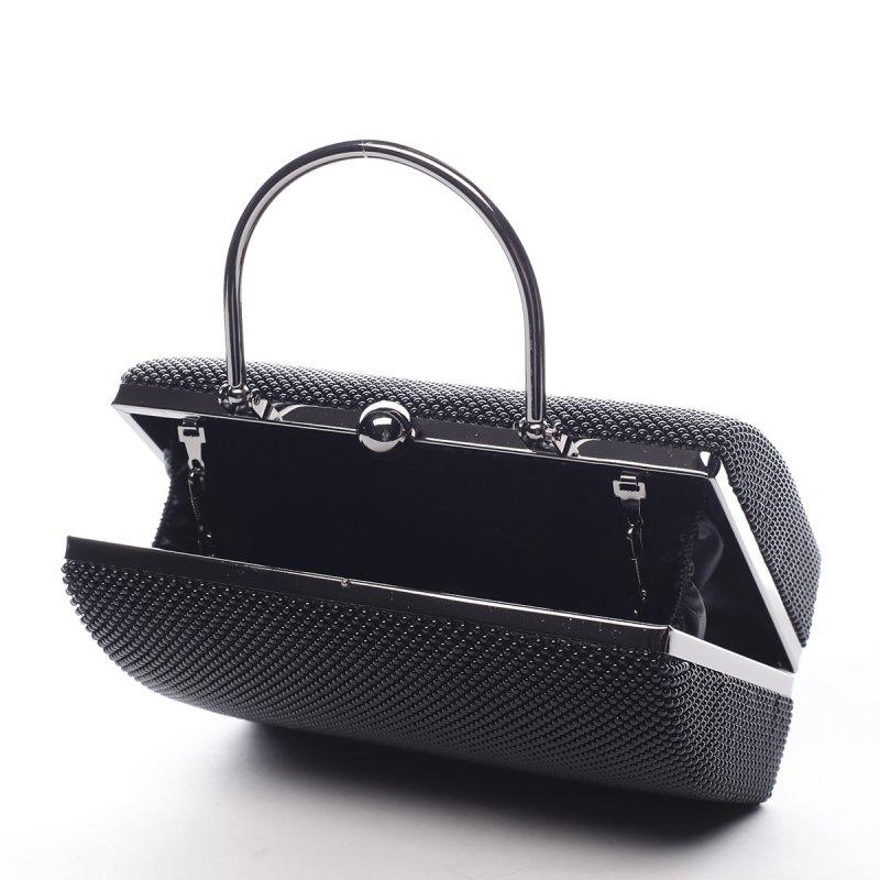 Jemná dámská společenská kabelka Amédee černá
