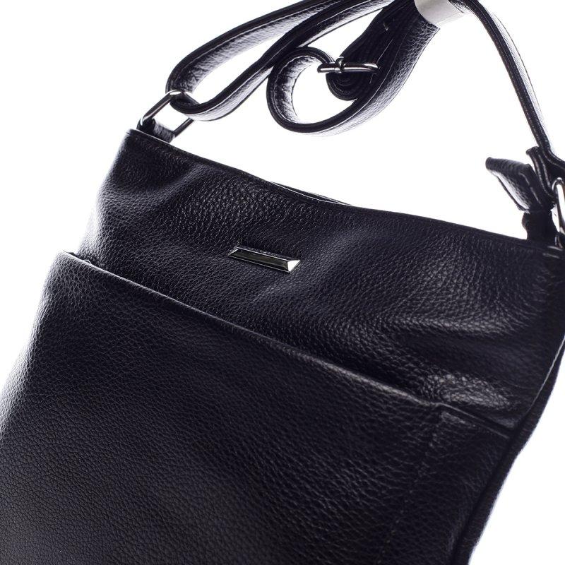 Jednoduchá dámská koženková crossbody Florine černá