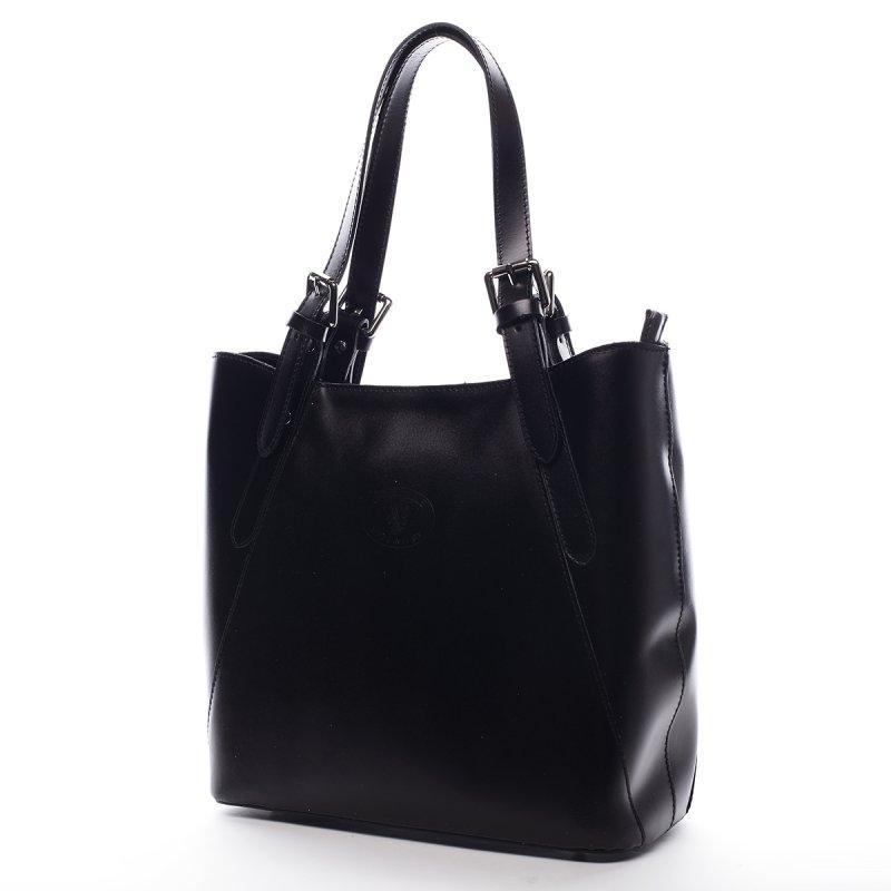 Praktická dámská kožená kabelka Jerémie černá