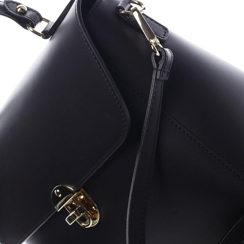 Elegantní kožený dámský kufřík Eveline černý