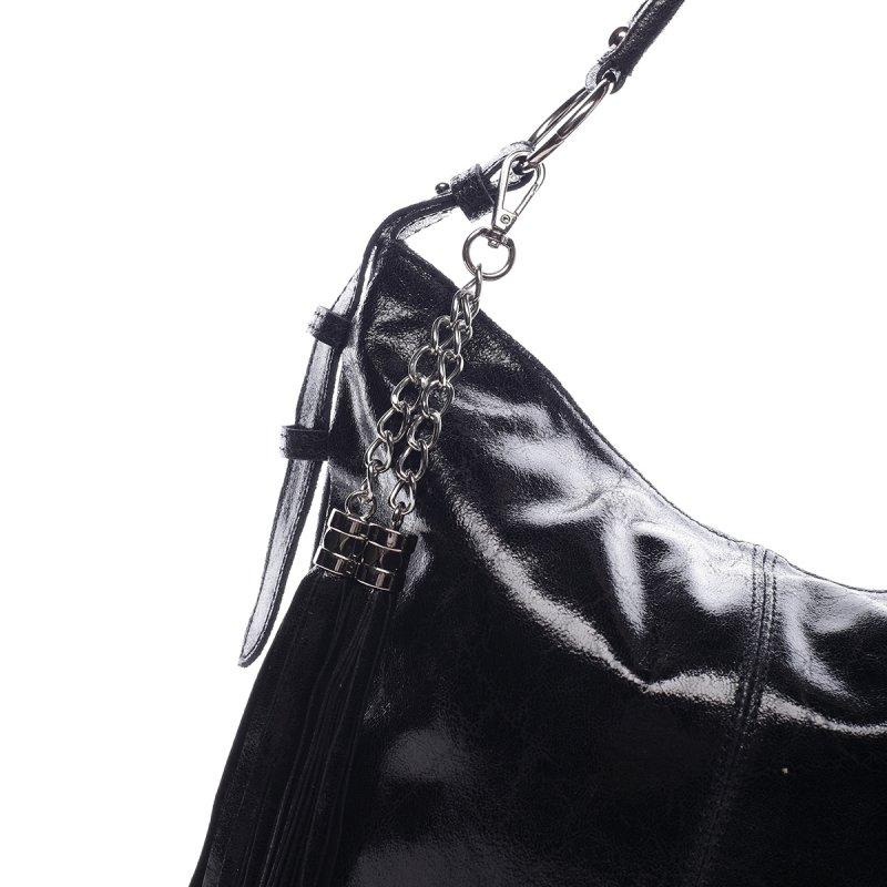 Exkluzivní dámská kožená kabelka Lady černá