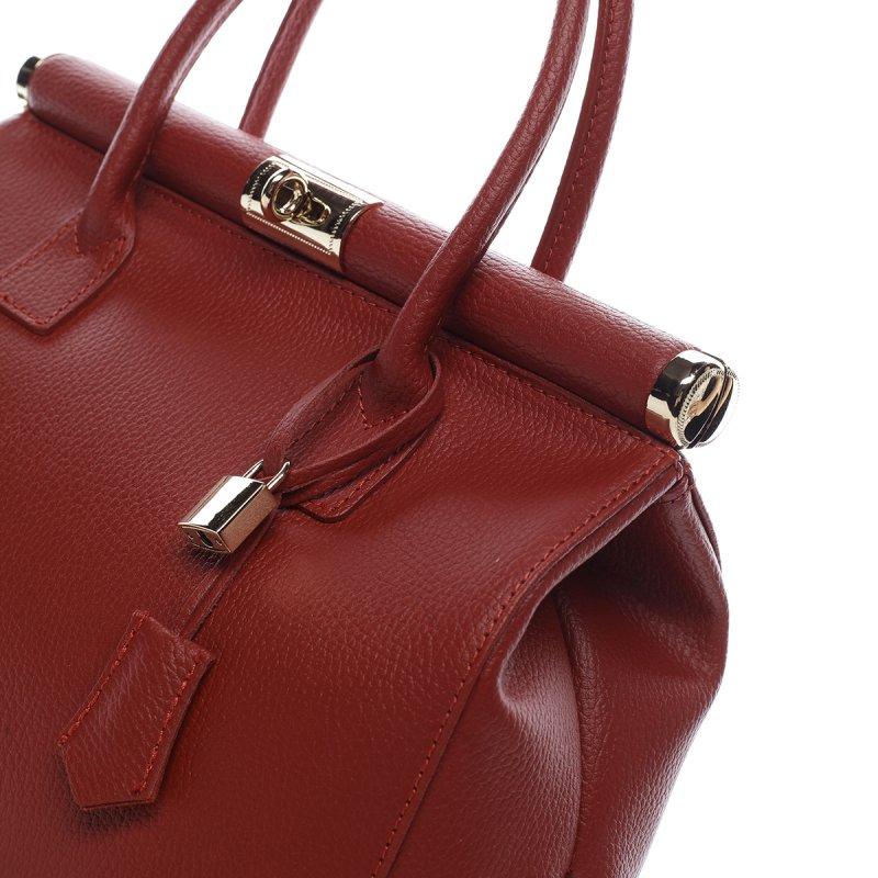 Moderní dámská kožená kabelka Anja červená