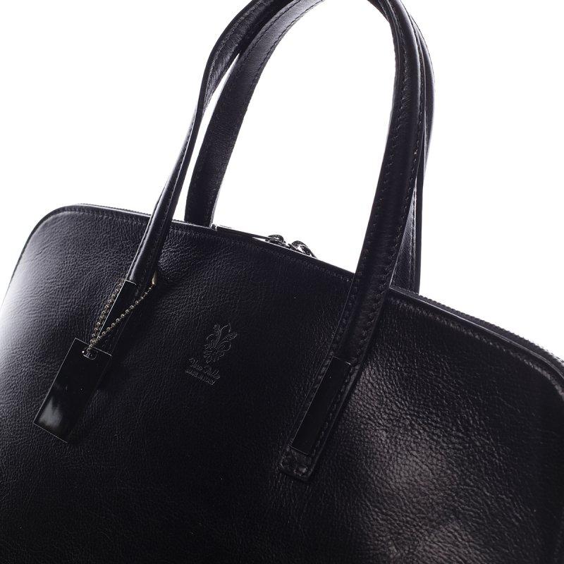Elegantní dámská kožená kabelka Inna černá