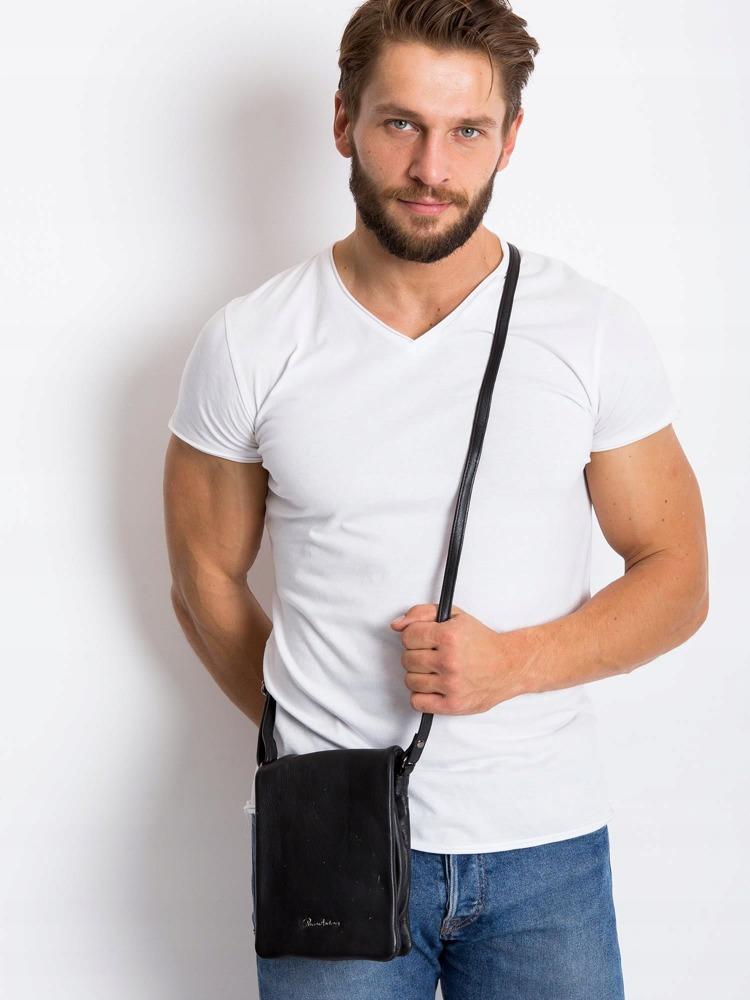 Kožená pánská crossbody taška Lawren, černá