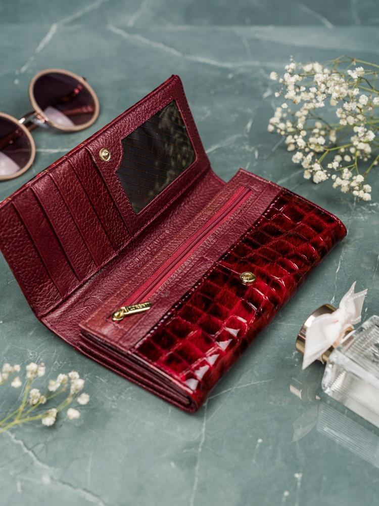 Kožená luxusní peněženka Grea, červená