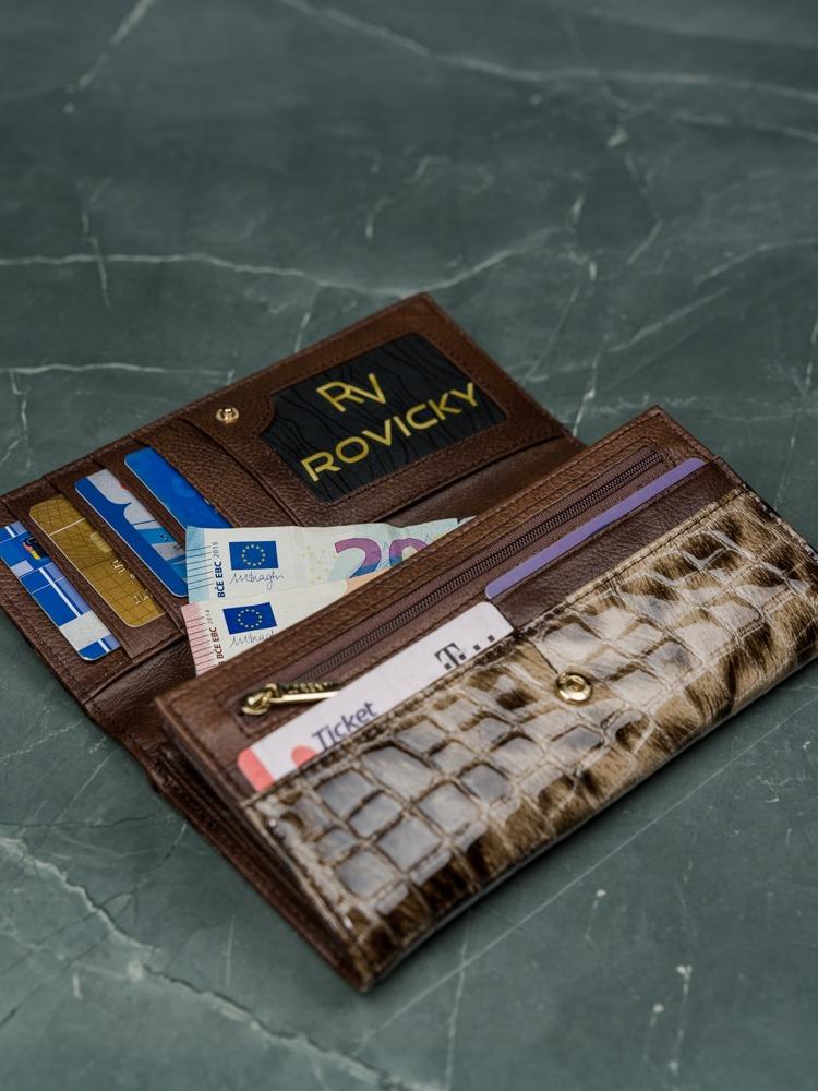 Kožená luxusní peněženka Grea, hnědá