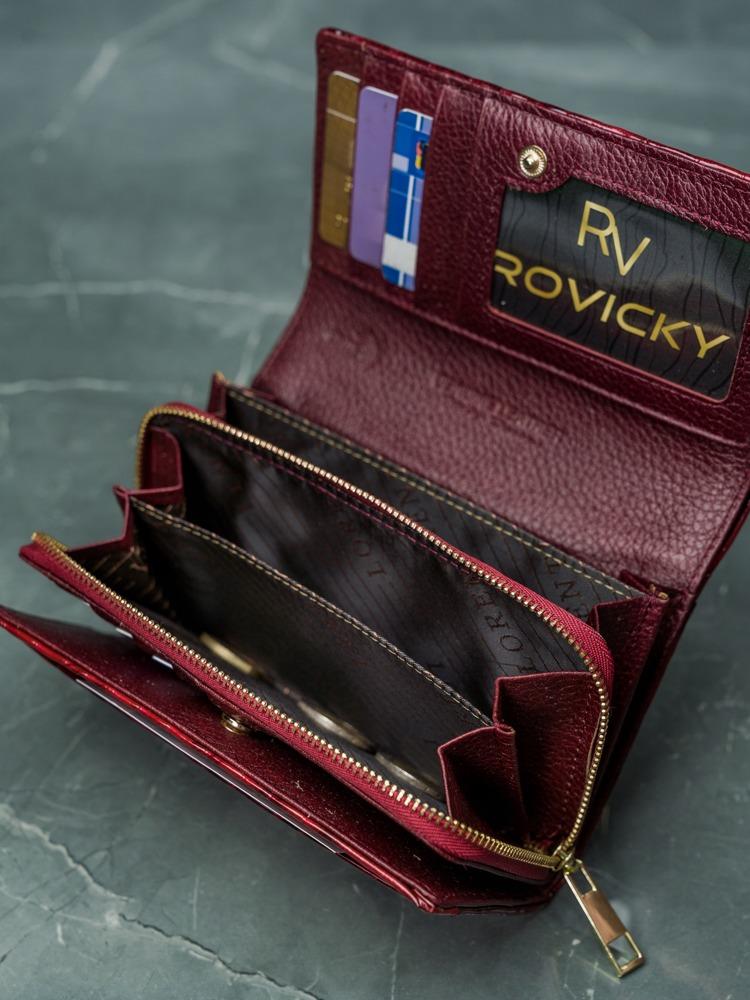 Luxusní dámská peněženka z kůže Sola, červená