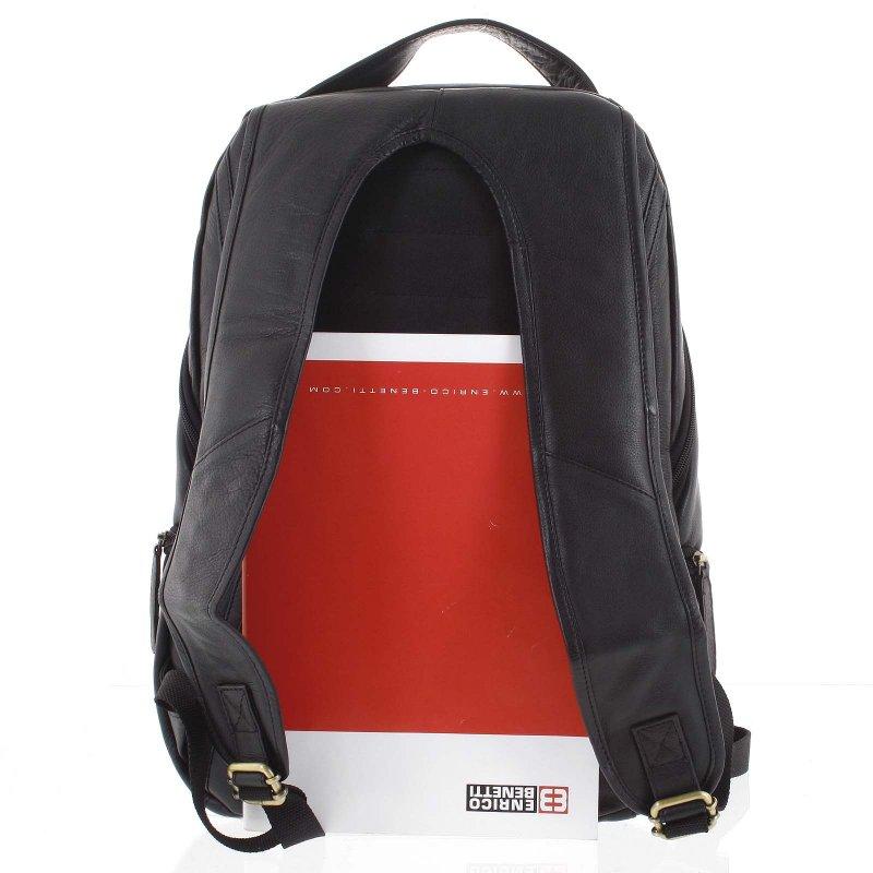 Prostorný kožený batoh Zei, černý