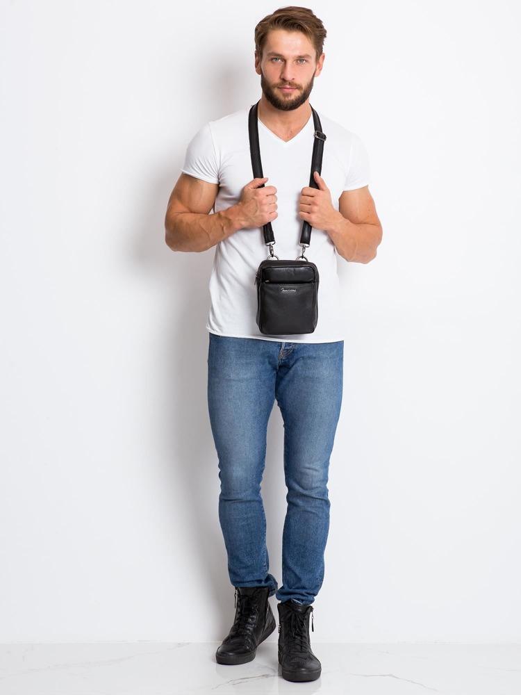 Pánská kožená crossbody taška Luis, černá