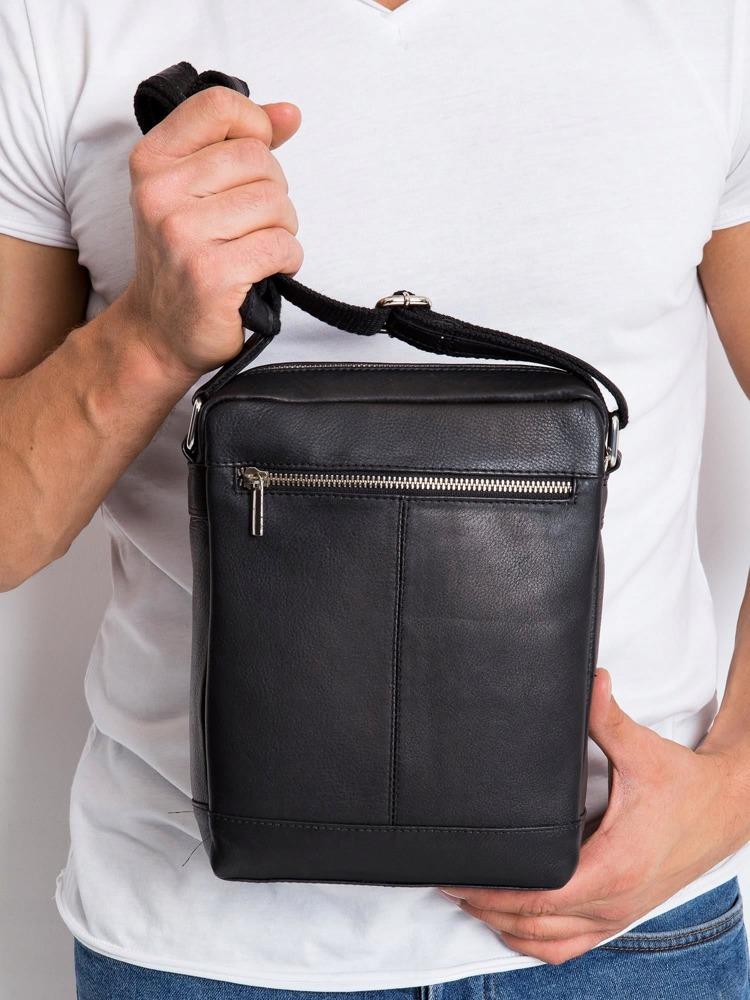 Kožená pánská crossbody taška Lan, černá