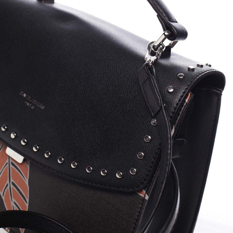 Neodolatelná dámská koženková kabelka Hannah černá