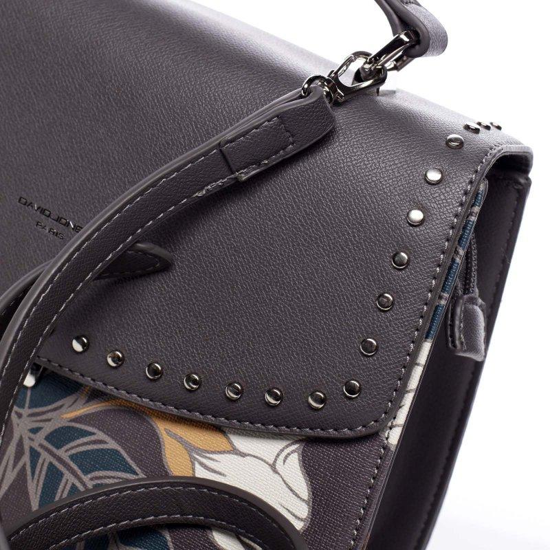 Neodolatelná dámská koženková kabelka Hannah šedá