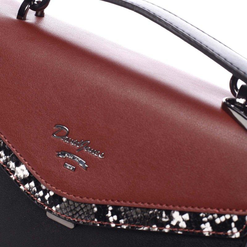Originální dámská koženková kabelka Katie červená