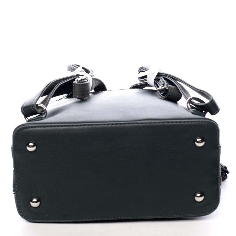 Dámský koženkový batůžek s prošíváním Lucy zelená