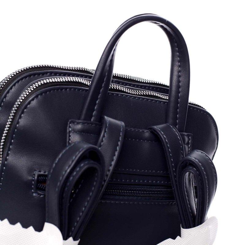 Dámský koženkový batůžek s prošíváním Lucy modrá