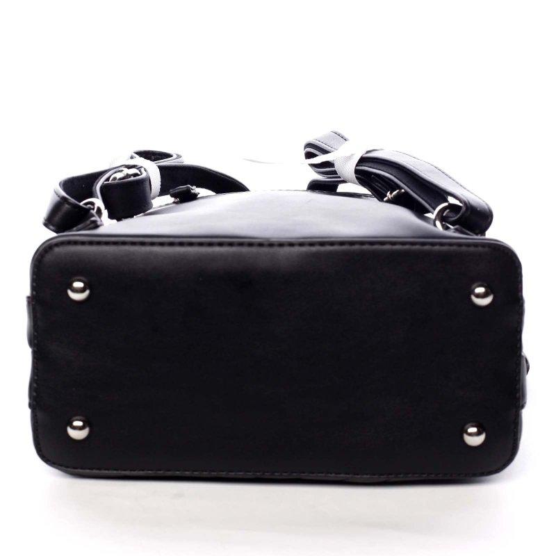 Dámský koženkový batůžek s prošíváním Lucy černá
