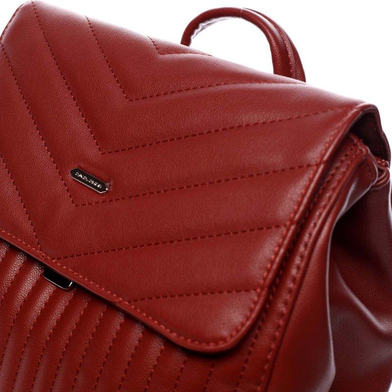 Městský koženkový batůžek Sarah červená