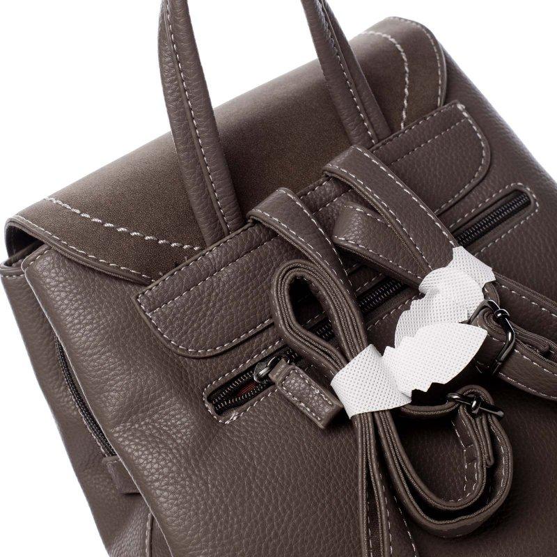 Desingový dámský koženkový batůžek Olivia zemitá
