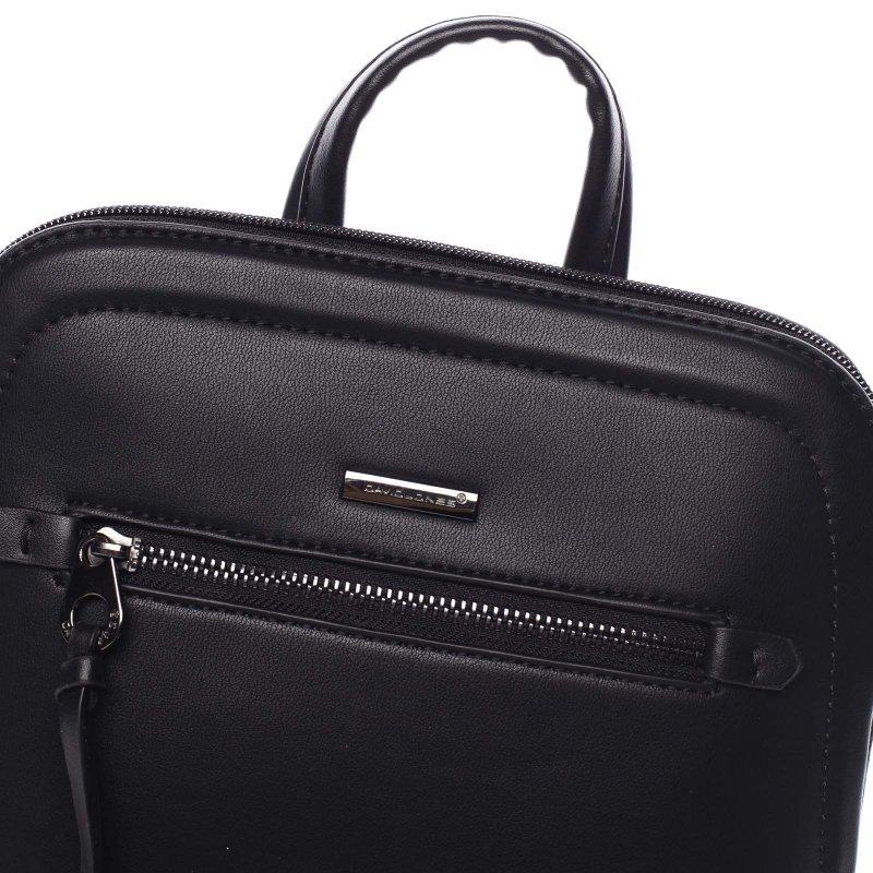 Stylový koženkový městský batoh Georgia černá