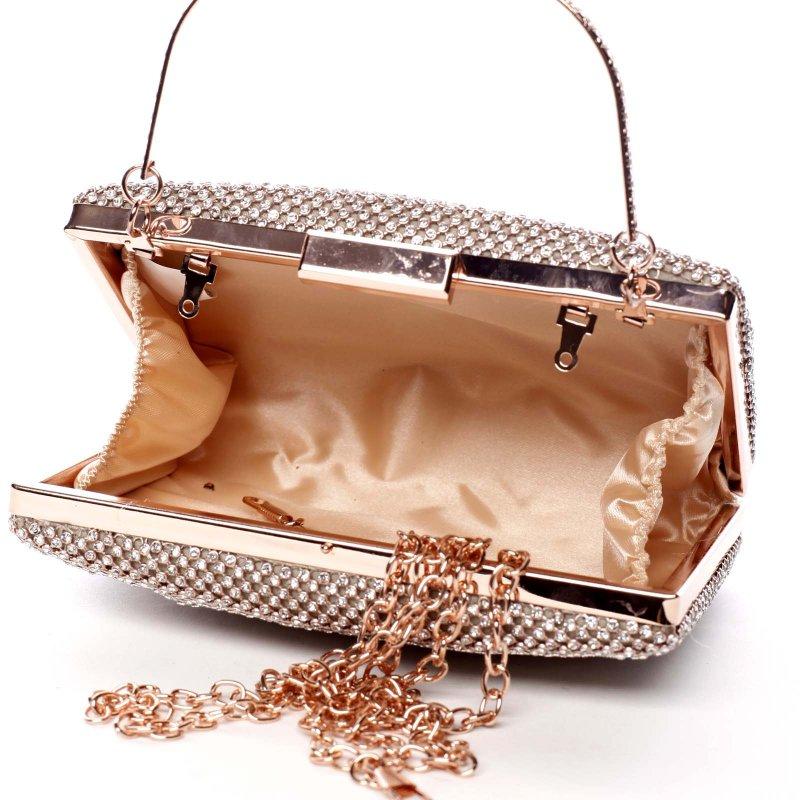 Plesová kabelka s korálky Zoe zlatá