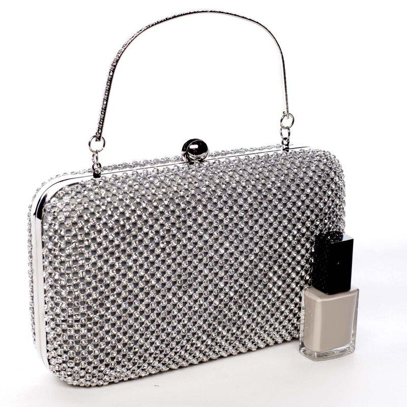 Luxusní dámská kabelka Bethany stříbrná