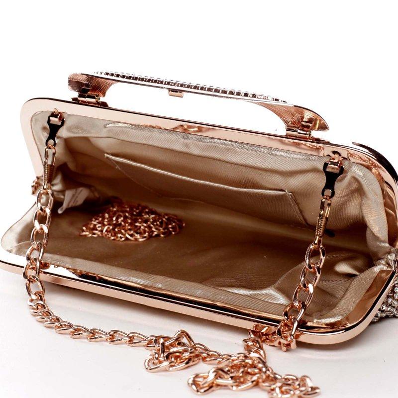 Plesová kabelka zajímavého střihu Abbie růžová