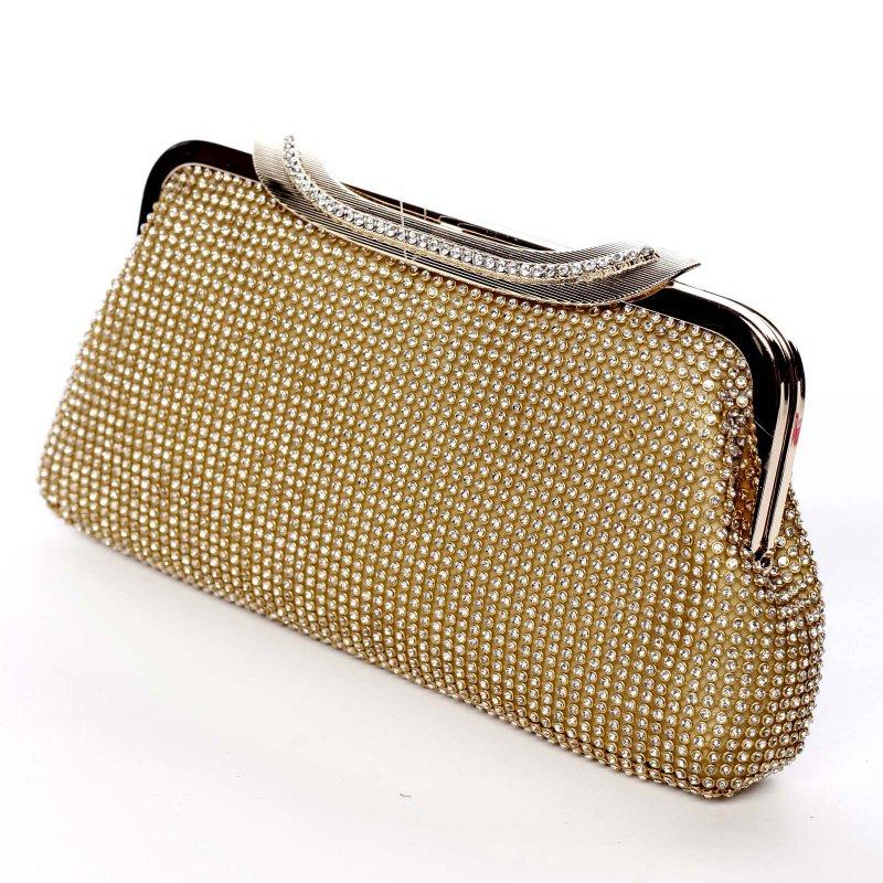 Plesová kabelka zajímavého střihu Abbie gold