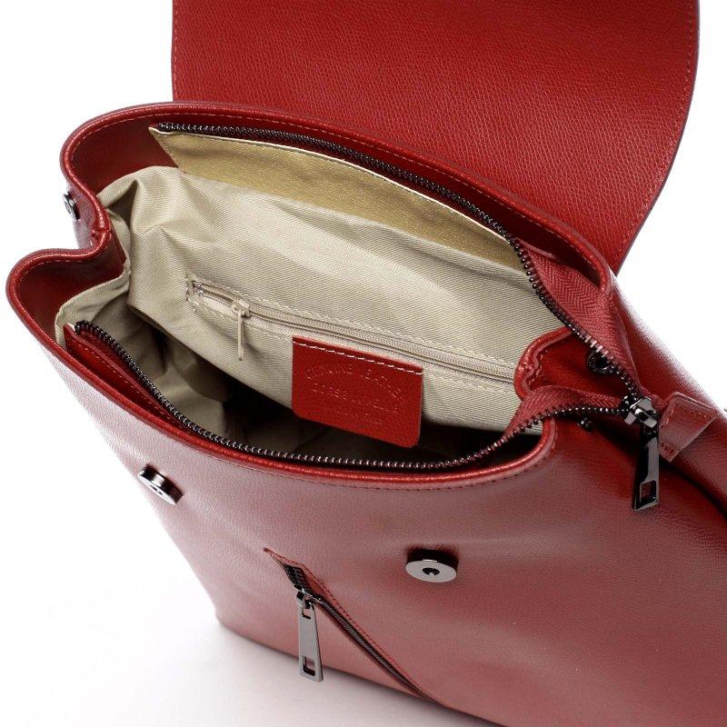 Dámský kožený luxusní batoh Anna červená