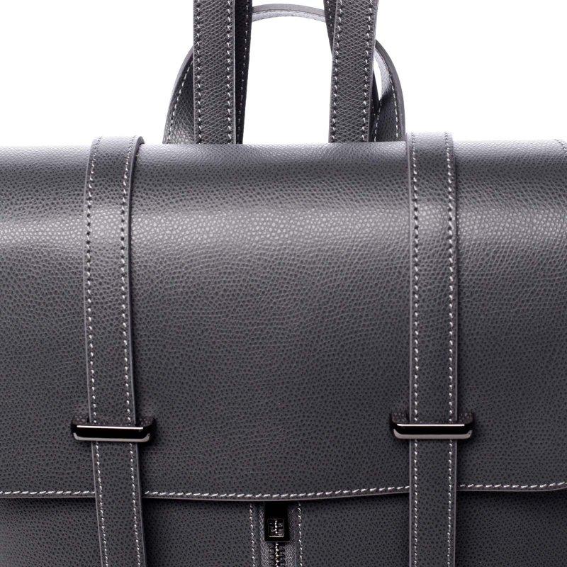 Dámský kožený luxusní batoh Anna šedá