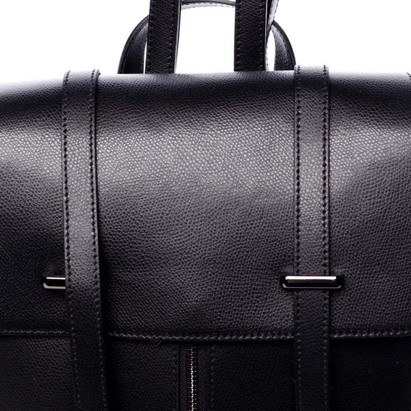 Dámský kožený luxusní batoh Anna černá