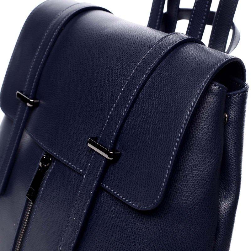 Dámský kožený luxusní batoh Anna modrý
