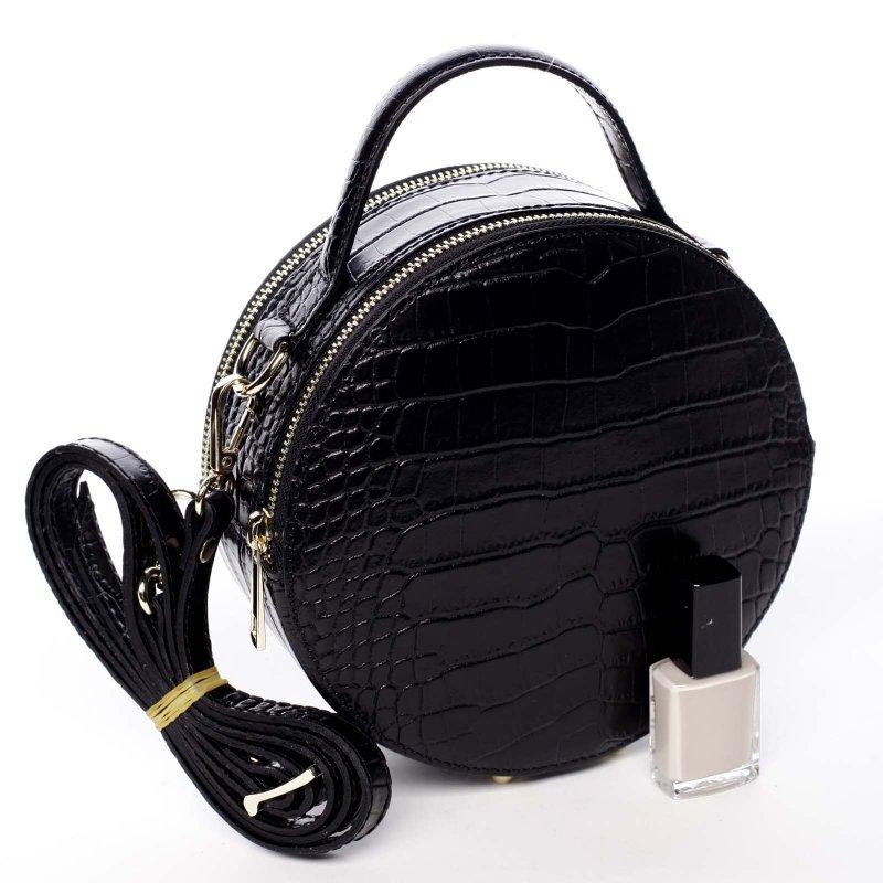 Nepřehlédnutelná dámská kožená kabelka Alice černá
