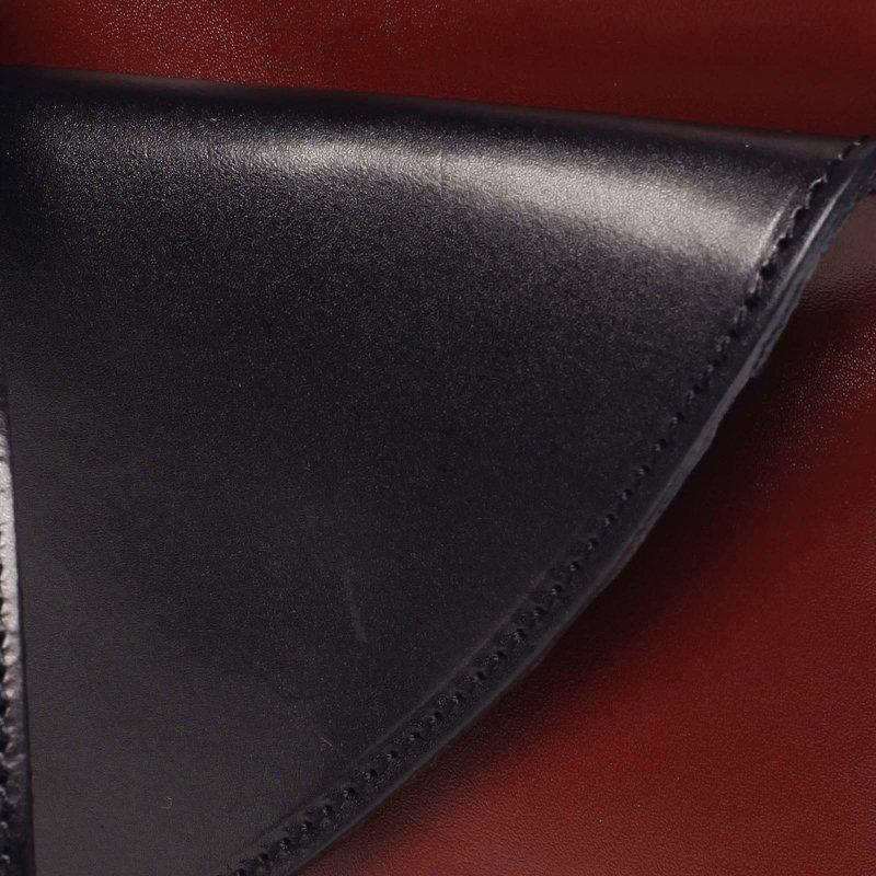Stylová dámská kožená crossbody Grace červená/černá