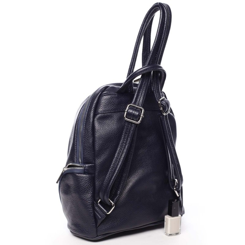 Praktický dámský kožený batůžek Gemma modrá