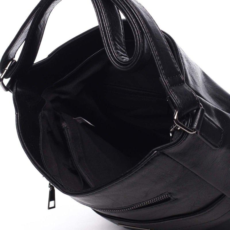 Dámská pohodlná koženková kabelka Kirsty black