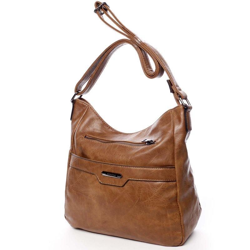 Dámská pohodlná koženková kabelka Kirsty brown