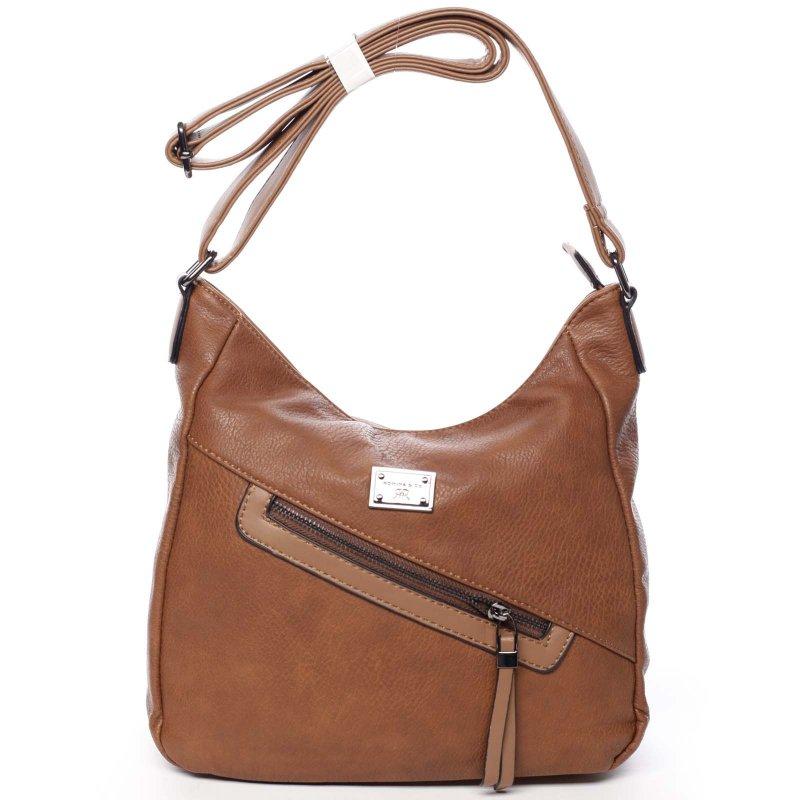 Velká dámská praktická taška Louise hnědá