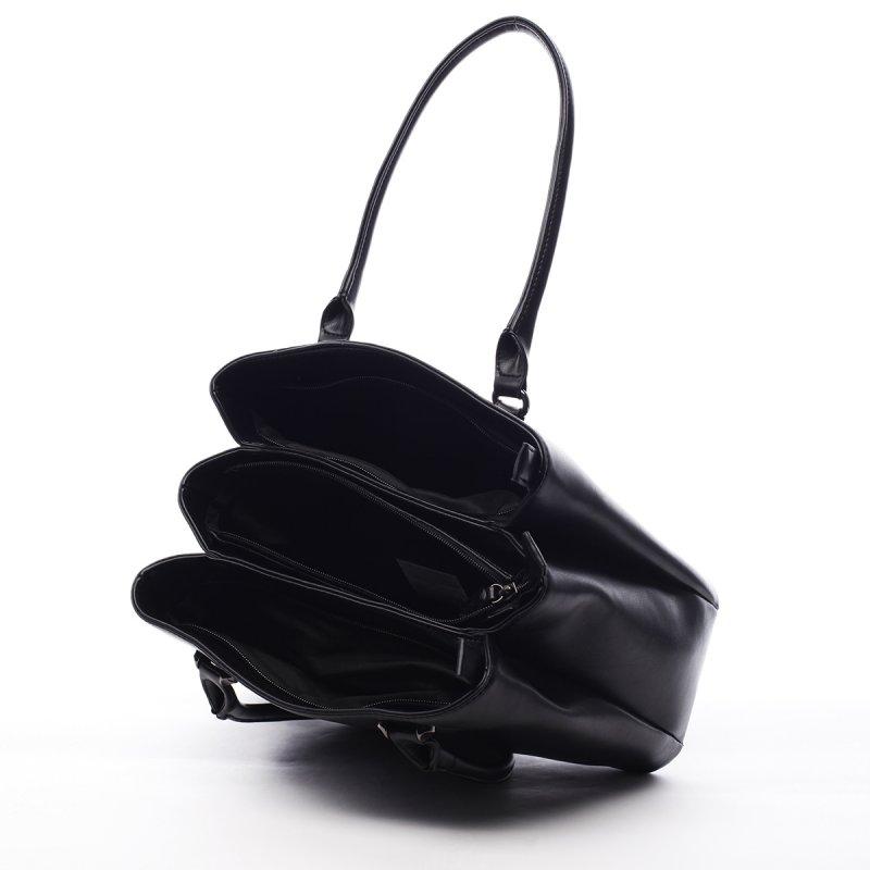 Dámská koženková prostorná kabelka Lily černá