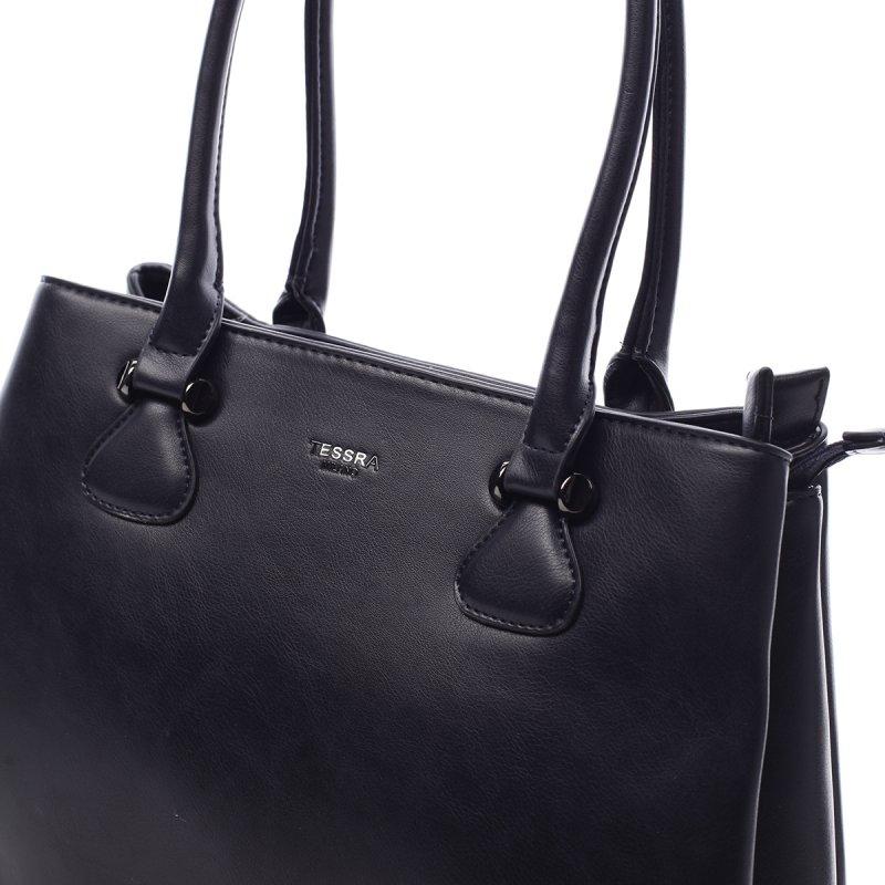 Dámská koženková prostorná kabelka Lily modrá