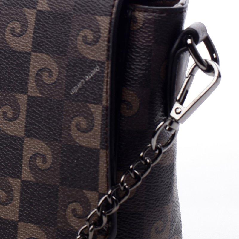 Dámská luxusní koženková crossbody Pierre Cardin Daisy hnědá