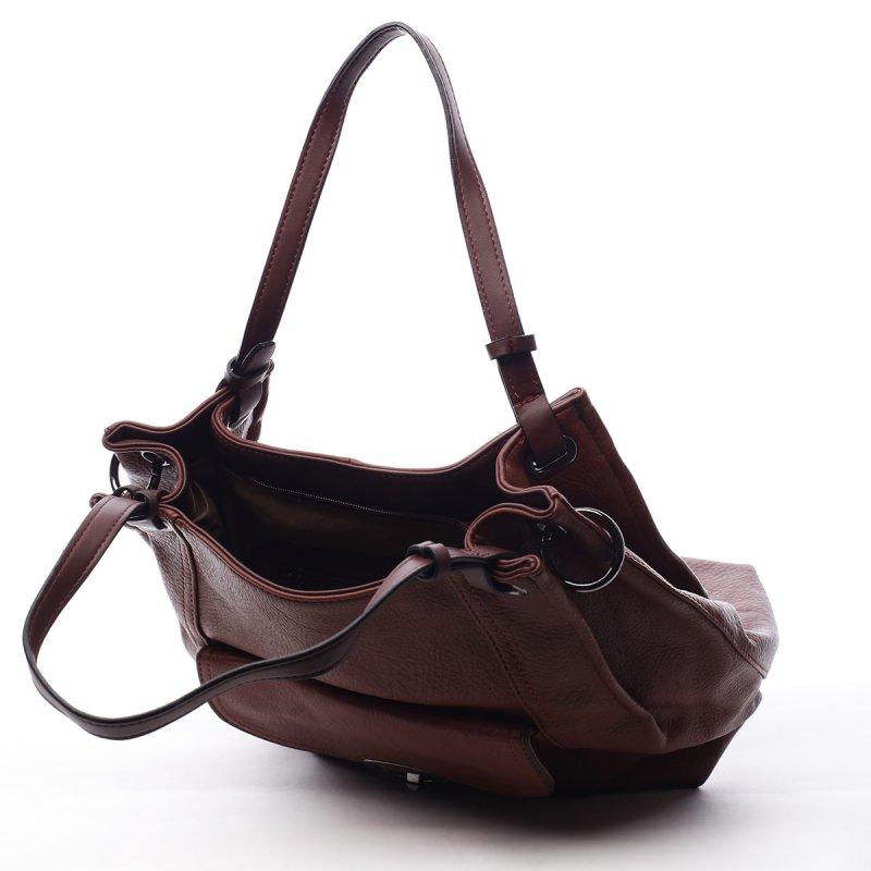 Dámská koženková kabelka Helen červená