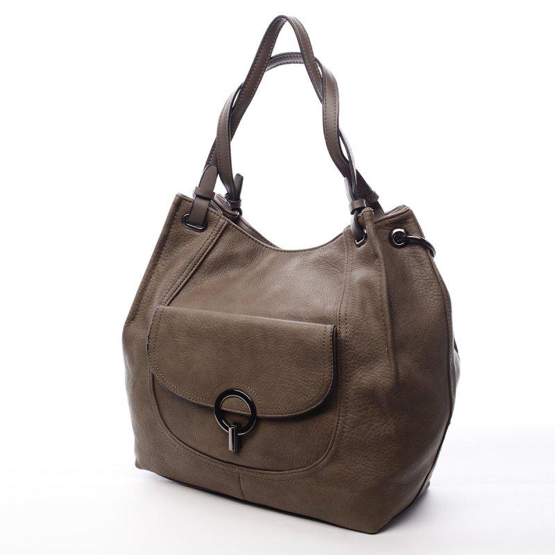 Dámská koženková kabelka Helen zemitá