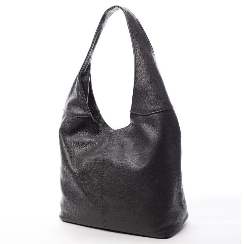 Velká dámská kožená kabelka Hayley šedá